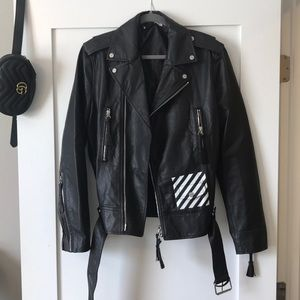 Authentic Off White leather jacket